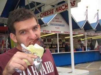 Aaron eatingTurkey